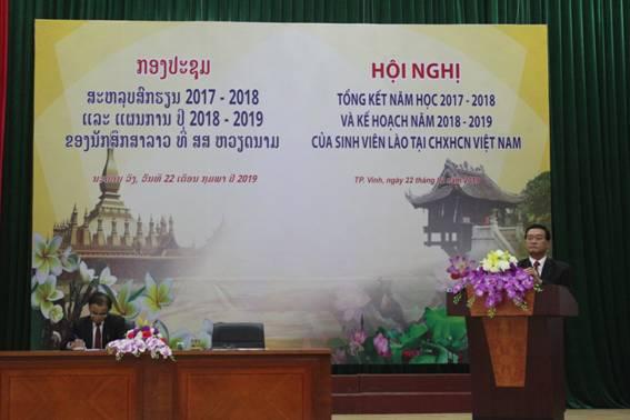 Hội nghị Tổng kết năm học 2017 – 2018 và kế hoạch năm học 2018 – 2019 của sinh viên Lào tại Việt Nam