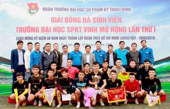Chung kết, bế mạc và trao giải, giải bóng đá nam sinh viên Trường Đại học Sư phạm kỹ thuật Vinh mở rộng chào mừng kỷ niệm 88 năm ngày thành lập Đoàn TNCS Hồ Chí Minh (26/3/1931 – 26/3/2019)